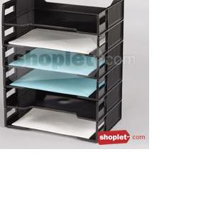 rubbermaid basic side load stackable tray