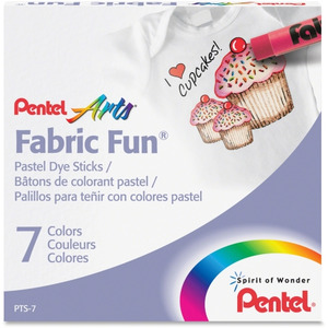 Pentel Arts Fabric Fun Pastel Dye Sticks Penpts7