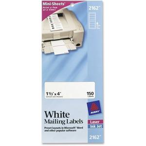 Avery mini sheets laser inkjet mailing label ave2162 for Universal laser printer labels template