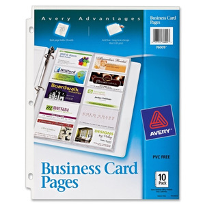 Avery Untabbed Business Card Pages AVE Shoplet