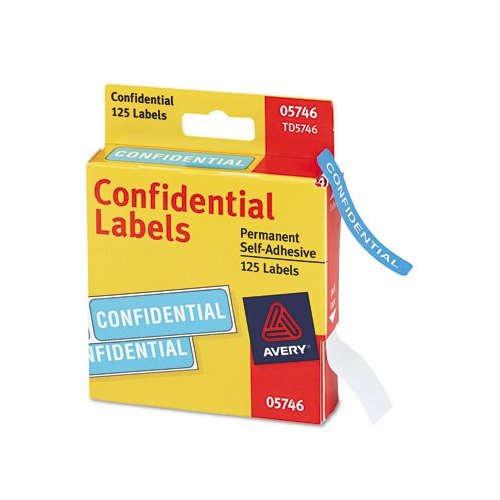 Avery Confidential Labels In Dispenser Roll Pack