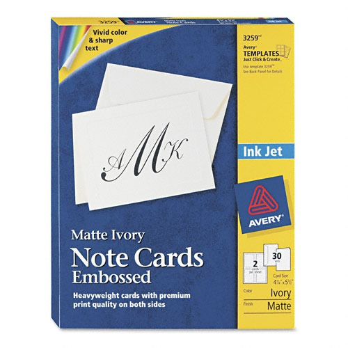 Avery Printable Embossed Cards