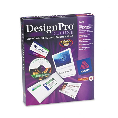 avery templates and software - avery designpro deluxe cd rom label printing software