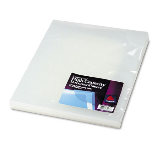 avery high capacity corner lock document sleeves With document sleeves translucent
