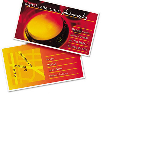 Avery Two sided printable clean edge business cards