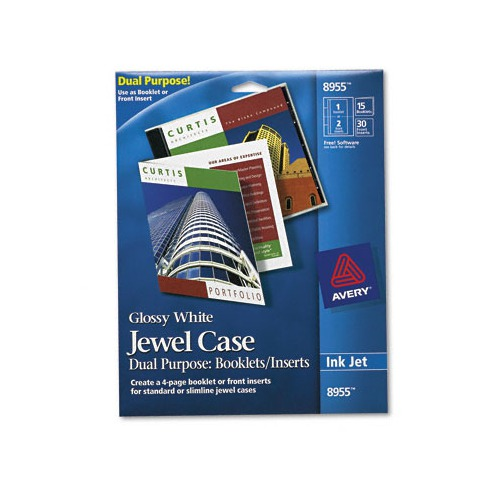Avery jewel case insert booklet combination ave8955 for Avery dvd case template