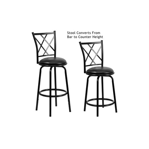 Flash Furniture counter Bar Height Stool  : BS 6140 24 29 BK GG from www.shoplet.com size 500 x 500 jpeg 42kB
