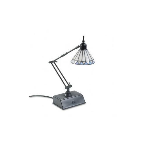 catalina tiffany style adjustable desk lamp w base outlets. Black Bedroom Furniture Sets. Home Design Ideas