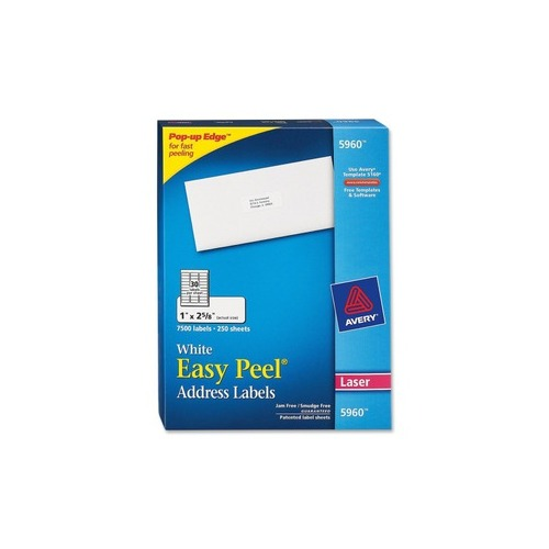 Avery 5260 Easy Peel Mailing Address Labels Laser 1 X 2: Avery Easy Peel Address Label