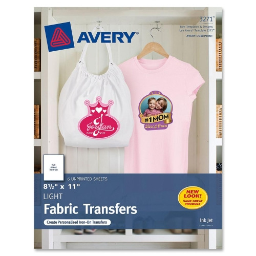 Avery Iron On Transfer Paper Ave3271
