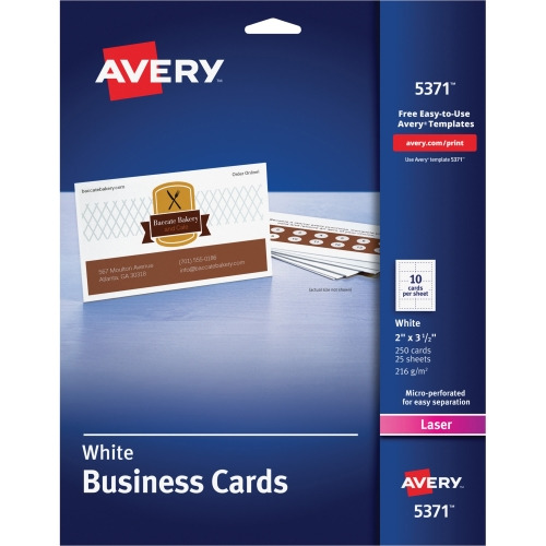 Avery business card ave5371 shopletcom for Avery online business cards