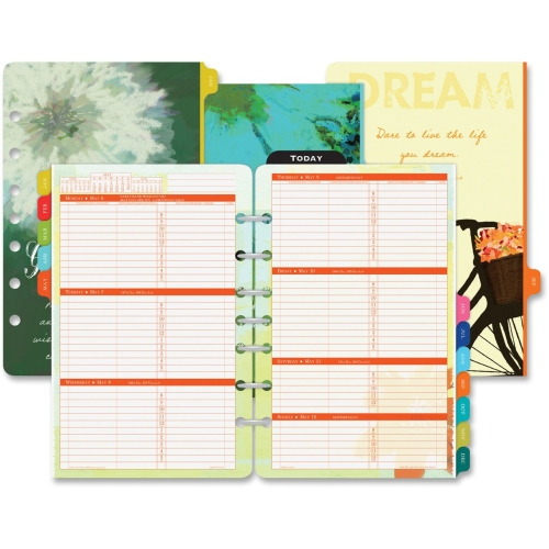 Day-Timer Original Two-Page-Per-Day Wirebound Refill, 3 1/2