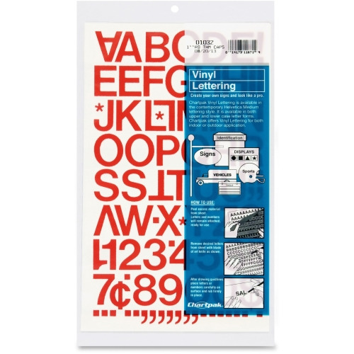 Chartpak vinyl letters and numbers cha01032 shopletcom for Chartpak vinyl letters
