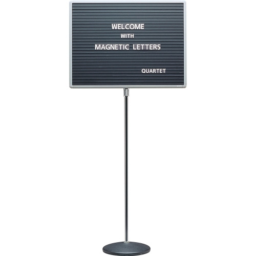 quartet adjustable single pedestal letter board qrt7921m With changeable letter board hobby lobby