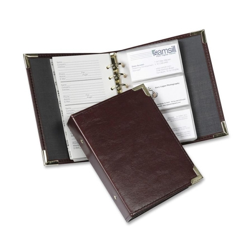 Samsill Classic Stitched Business Card Binder