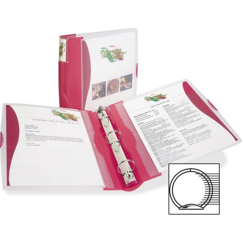 Avery Silhouette View Round Ring Reference Binder