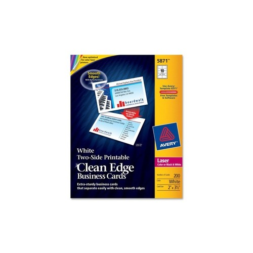 Avery Clean Edge Business Card AVE5871 Shoplet