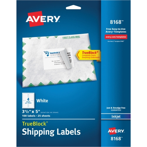 Custom Card Template print avery labels : Avery Shipping Label - AVE8168 - Shoplet.com