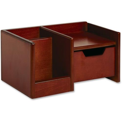 rolodex workspace wood mahogany desktop organizer rol98800 shoplet