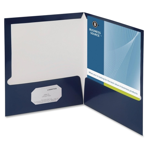 Business Source Two Pocket Folders with Business Card