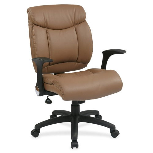 WorkSmart FL89675 Faux Leather Managers Chair With Flip Arms OSPFL89675U10