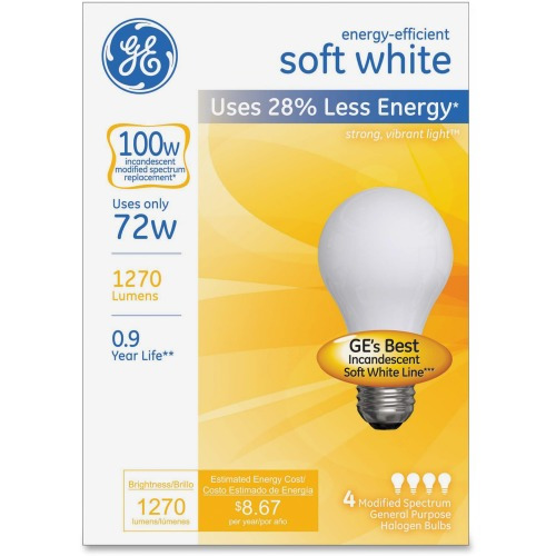 Ge Healthcare Ge Energy Efficient Soft White 72 Watt A19 4