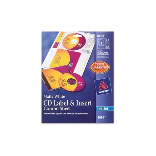 Printing Cd Case Insert: Avery CD Label & Insert Sheet Combo