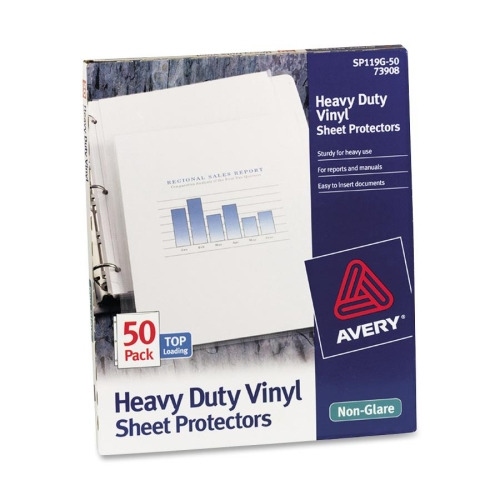Avery Top Loading Sheet Protector Ave73908 Shoplet Com