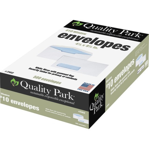 Quality park no 10 window security envelopes qua21412 for 10 x 13 window envelope